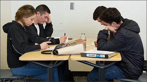 Puente Students studying.