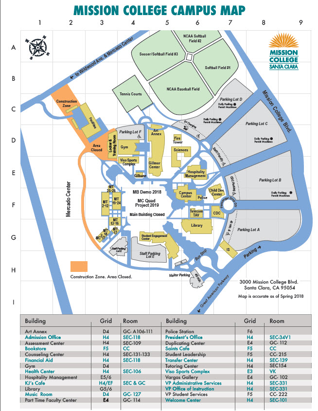 Mission College Campus Map on university of wisconsin-madison campus map, naval postgraduate school campus map, north texas university campus map, university of tennessee at chattanooga campus map, southern arkansas university campus map, monterey university campus map, washington & jefferson college campus map, rhode island university campus map, armstrong university campus map, salt lake community college campus map, un reno campus map, saint johns university campus map, california state university bakersfield campus map, uc davis campus map, the university of toledo campus map, tennessee technological university campus map, western state colorado university campus map, university of texas at san antonio campus map, university of louisiana at monroe campus map, golden gate university campus map,