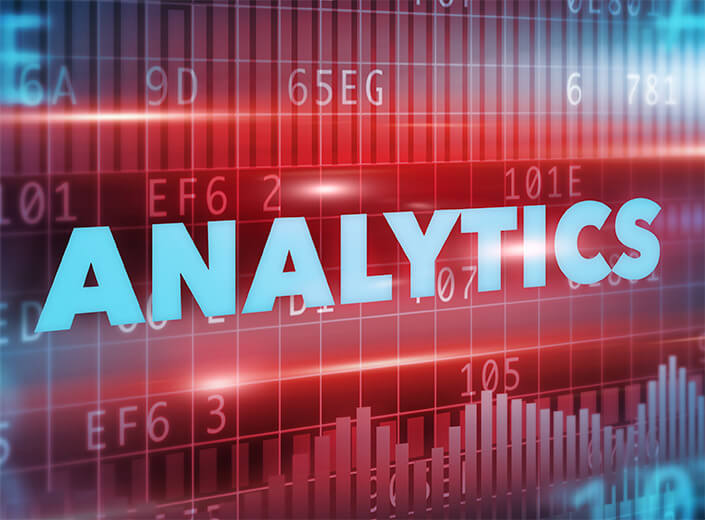 analytics in words in a graphic