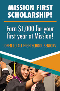 mission first scholarship for $1000 for first year at MC